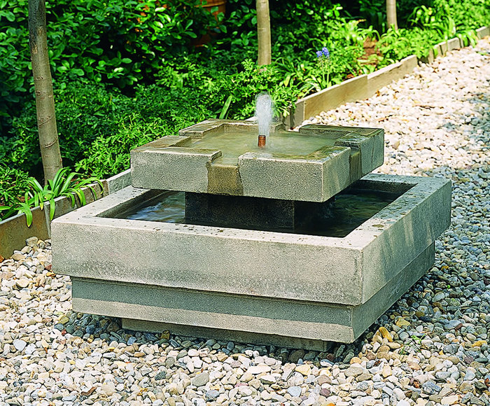 Easy Outdoor Water Features : The Simple Garden Design with a Fountain  GardenFountainscom