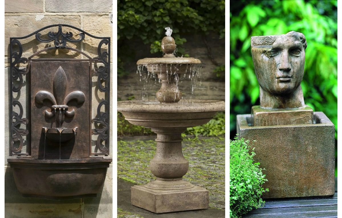 Fountain Collage Garden-fountains