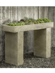 Console Table with Succulents Garden-fountains.com