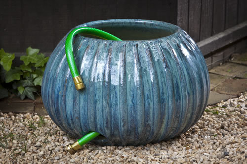 Hose pot outdoor garden accent garden-fountains